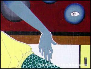 「壁に目」絵の一部
