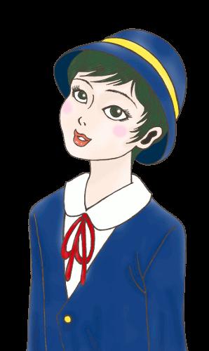昭和レトロ風少年無料素材