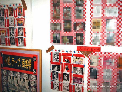 デザインフェスタギャラリーでの展示【壁に貼ったポストカード】