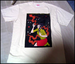 「目玉も生える三日月の夜」Tシャツ