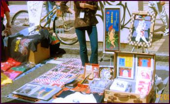 「第4回吉田町アート&ジャズフェスティバル」土曜日の展示