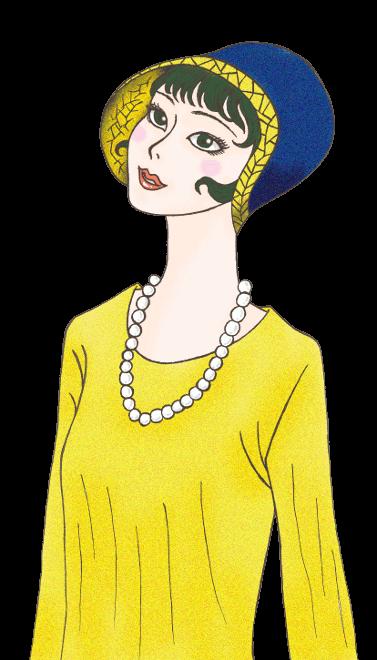 昭和レトロ風女性無料素材